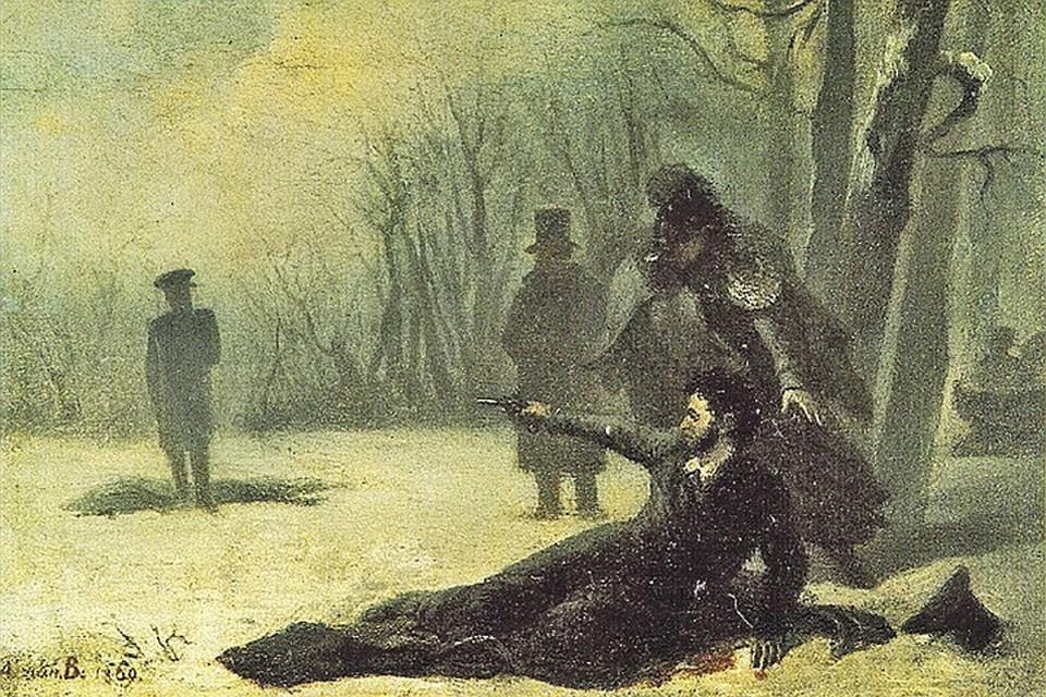 Дуэль на Черной речке стала сюжетом множества картин и иллюстраций. Фото: www.wikimedia.org