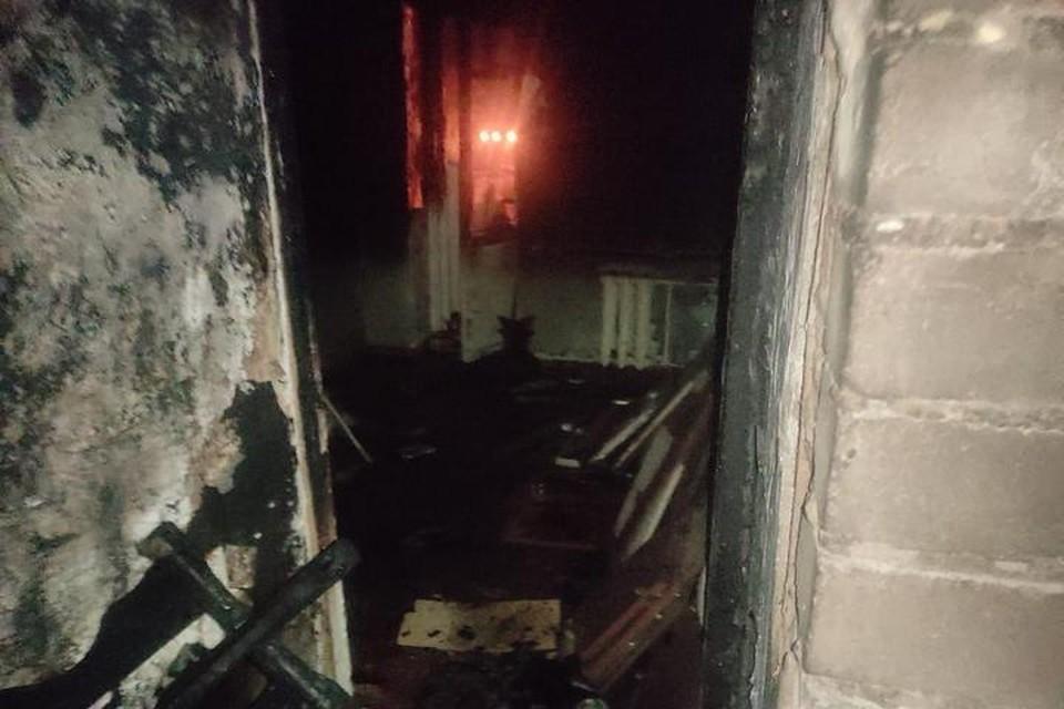 Квартира, в которой вспыхнул пожар // фото: МЧС РБ