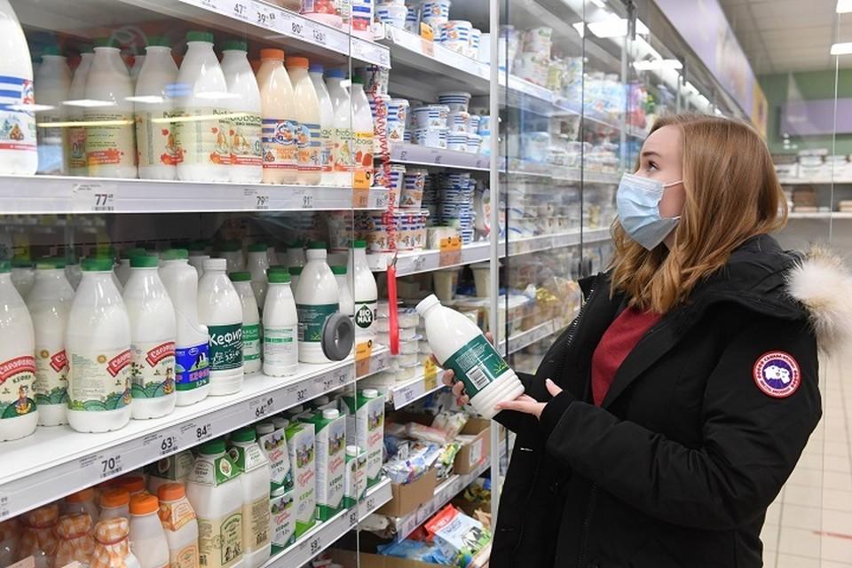 Средняя цена питьевого цельного стерилизованного молока достигает 85 рублей