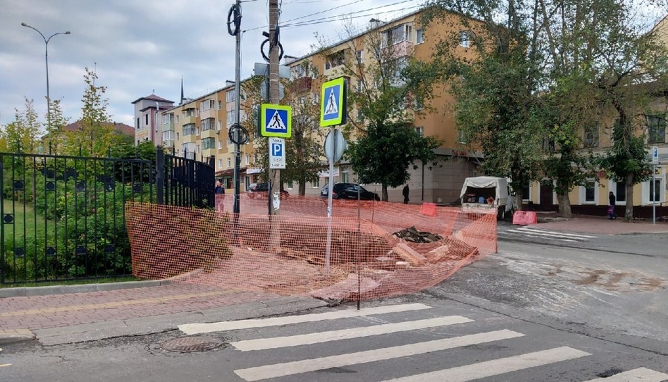 Перекресток улиц Марата и Достоевского в Калуге.